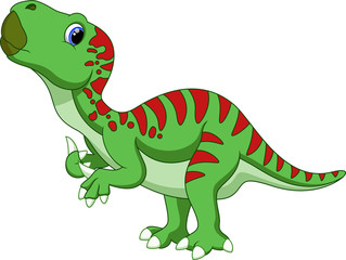 Cute iguanodon cartoon