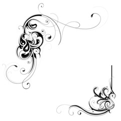 Floral frame parts as design elements
