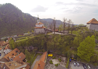 Aerial view on Kamnik in Slovenia