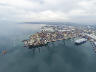 Aerial view on Koper port