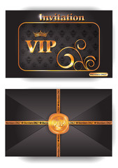 VIP envelope with pattern and stamp