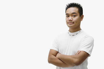 Portrait of Asian man with arms crossed