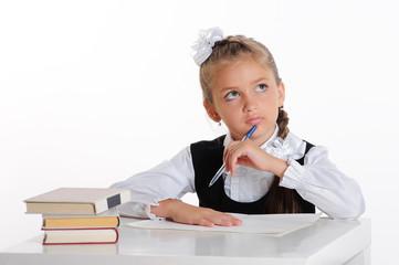 thinking schoolgirl