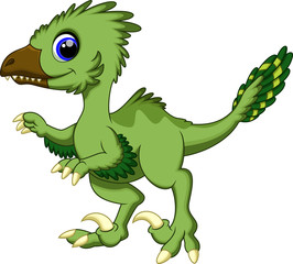 Cute deinonychus cartoon