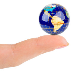 Finger and globe