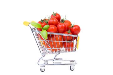 tomaten im einkaufswagen