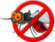 Stop mosquito cartoon - 68406340