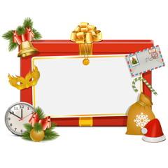 Vector Christmas Celebration Board