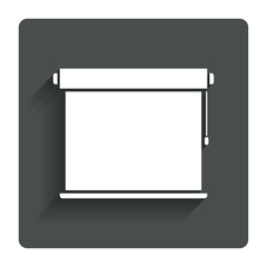 Louvers rolls sign icon. Window blinds jalousie.
