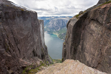 Kjeragbolten in Norway.