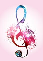 Musica, Chiave di Sol, Note musicali