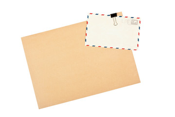 Blank envelope and post cards