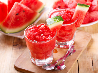 fresh watermelon granita