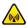 canvas print picture - Warnhinweis nicht ionisierende elektromagnetische Strahlung