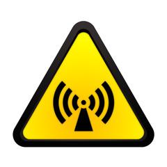 Warnhinweis nicht ionisierende elektromagnetische Strahlung