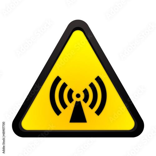 canvas print picture Warnhinweis nicht ionisierende elektromagnetische Strahlung