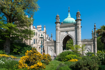The Royal Pavilion Gardens, Brighton, UK.