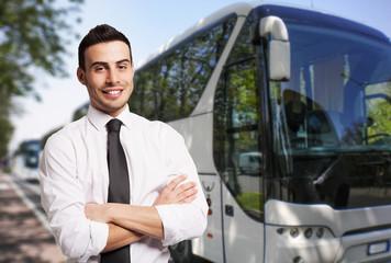 Bus driver portrait
