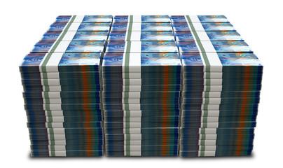 Swiss Franc Notes Bundles Stack