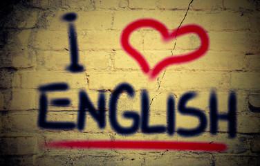 I Love English Concept