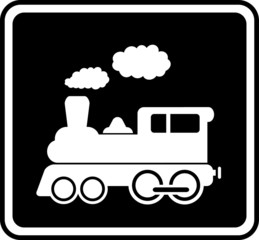 isolated icon with white train