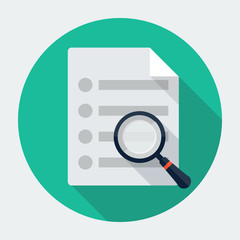 Vector search document icon