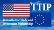 canvas print picture - Banner Flaggen - USA und Europa - 16 zu 9 - g924