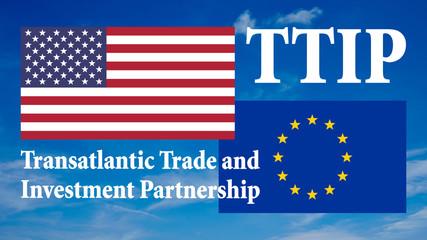 Banner Flaggen - USA und Europa - 16 zu 9 - g924