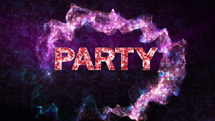 Party Text and Particles