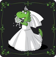 Bridezilla Vector Cartoon