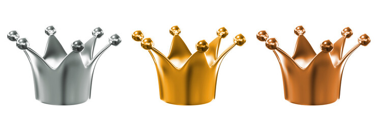 golden crown isolated over white