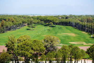 The view on golf fields, Antalya, Turkey