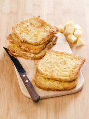 fried bread with cheese