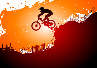 Downhill abstract background