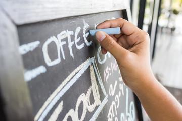 Open coffee shop