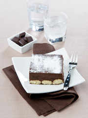 tiramisu dessert with chocolate