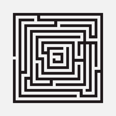 Maze, square, vector illustration