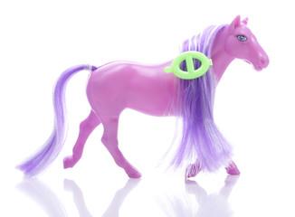 Little pony isolated on white background