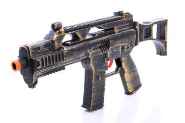 Toy gun on white