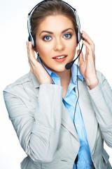 Woman support center worker