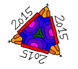 simbolo decorazione 2015 su sfondo bianco