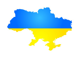 Silhouette of Ukraine