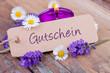 Leinwanddruck Bild - Gutschein - Schild - Wellness