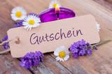 Fototapety Gutschein - Schild - Wellness