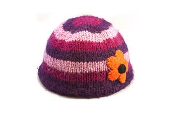 Woollen Hat with Flower Detail