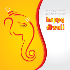 happy diwali festival greeting design