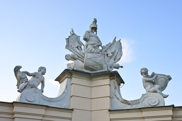 Detail of the fence. Upper Belvedere. Vienna. Austria