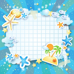 Holiday background with bubble