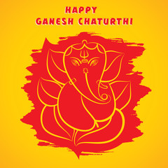 happy ganesh chaturthi festival greeting design