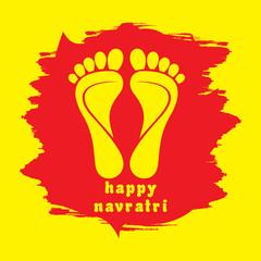 happy navratri festival greeting design